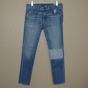 Sz 27 Rag & Bone Blue Ludlow Tomboy Skinny Jeans